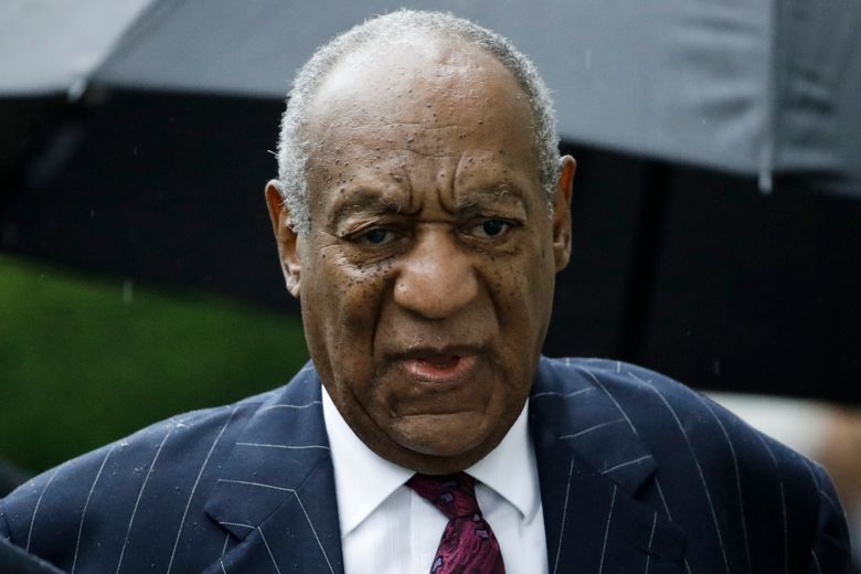 """FILE – In this Sept. 25, 2018, file photo, Bill Cosby arrives for his sentencing hearing at the Montgomery County Courthouse in Norristown Pa.  Prosecutors set to defend Cosby's sexual assault conviction in appeals court Aug. 12,  say the accusations from other women are no coincidence, but """"the culmination of a decades-long pattern of behavior."""" The 82-year-old comic actor is the first celebrity convicted and sent to prison in the #MeToo era.  (AP Photo/Matt Rourke, File)"""