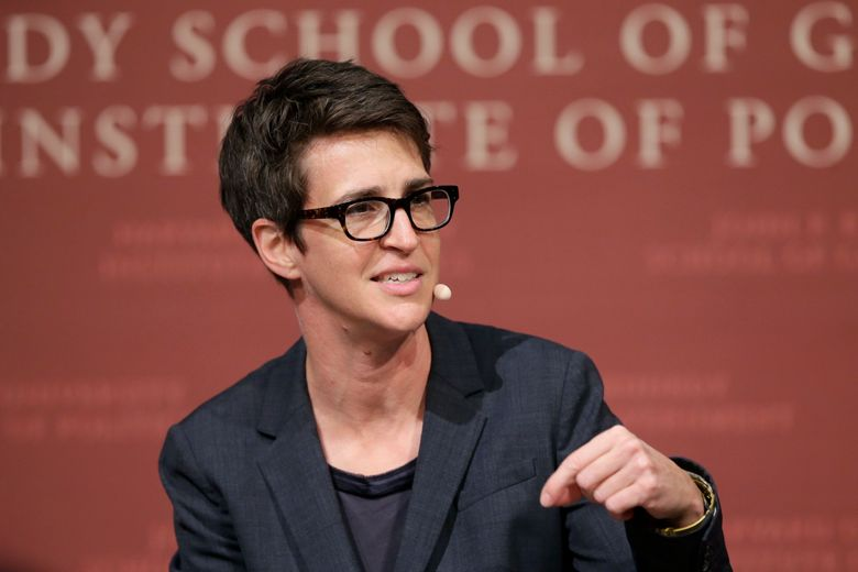 """FILE – In this Oct. 16, 2017 file photo, MSNBC television anchor Rachel Maddow, moderates a panel at a forum called """"Perspectives on National Security,"""" at the John F. Kennedy School of Government, on the campus of Harvard University, in Cambridge, Mass. During her turn as moderator in last week's 2020 Democratic primary debates, Maddow briefly scuffled with Bernie Sanders and, with Pete Buttigieg, induced the campaign rarity of a politician admitting to a failure. But she didn't put to rest the issue of whether NBC News was wise to include the host of MSNBC's most popular opinion show as a questioner. (AP Photo/Steven Senne, File)"""
