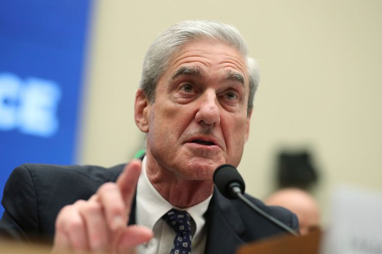 Former special counsel Robert Mueller testifies before the House Intelligence Committee hearing on his report on Russian election interference, on Capitol Hill, in Washington, Wednesday, July 24, 2019. (AP Photo/Andrew Harnik)