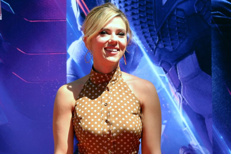 """FILE – In a Tuesday, April 23, 2019 file photo, Scarlett Johansson, a member of the cast of """"Avengers: End Game,"""" appears at a hand and footprint ceremony at the TCL Chinese Theatre, in Los Angeles. Scarlett Johansson says comments she made on the """"authentic casting"""" debate have been taken out of context and asserts that she supports diversity in film. In a recent interview with As If magazine, she said actors should be allowed to play any person """"because that is my job and the requirement of my job."""" Johansson said Saturday, July 13, 2019 that those comments were subsequently edited in other publications for clickbait.  (Photo by Willy Sanjuan/Invision/AP, File)"""