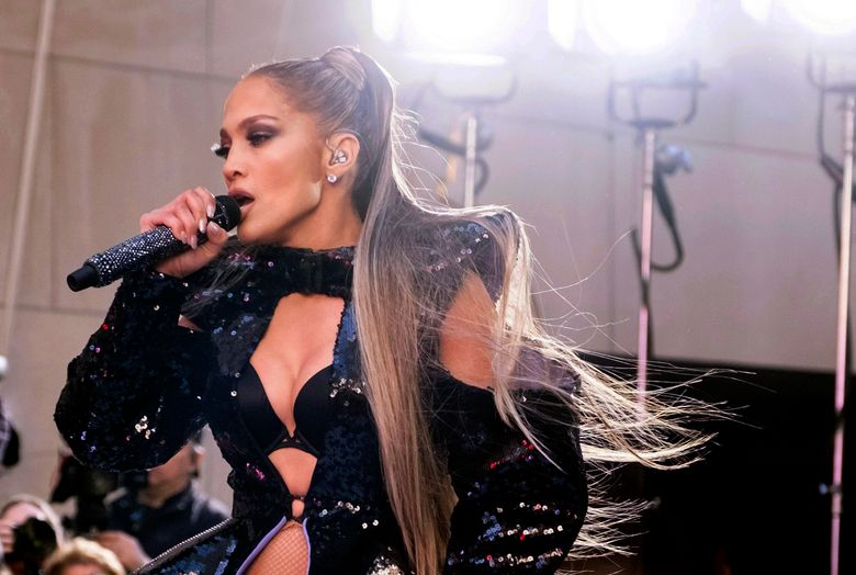 """FILE – In this May 6, 2019 file photo, Jennifer Lopez performs on NBC's """"Today"""" show at Rockefeller Plaza in New York. Lopez kept her word to fans who were disappointed when a power outage in New York City forced her to postpone her concert.  Lopez returned to the stage in Madison Square Garden on Monday, July 15, saying they were going to celebrate """"no matter what."""" She called it an """"amazing night.""""  Her show was cut short on Saturday night when problems at a substation left parts of Manhattan without electricity. The Garden, Carnegie Hall and the Lincoln Center for the Performing Arts were all evacuated.   (Photo by Charles Sykes/Invision/AP File)"""