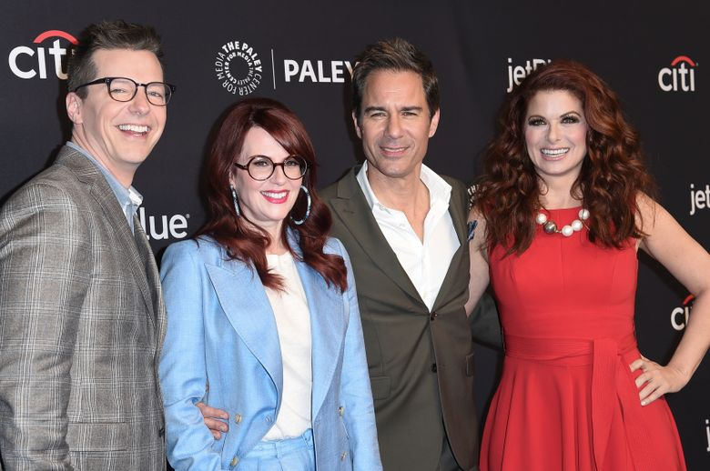 """FILE – This March 17, 2018 file photo, Sean Hayes, from left, Megan Mullally, Eric McCormack and Debra Messing attend the 35th Annual Paleyfest """"Will & Grace"""" in Los Angeles. NBC announced Thursday, July 15, 2019, that the upcoming season will be the last for the comedy series. (Photo by Richard Shotwell/Invision/AP, File)"""