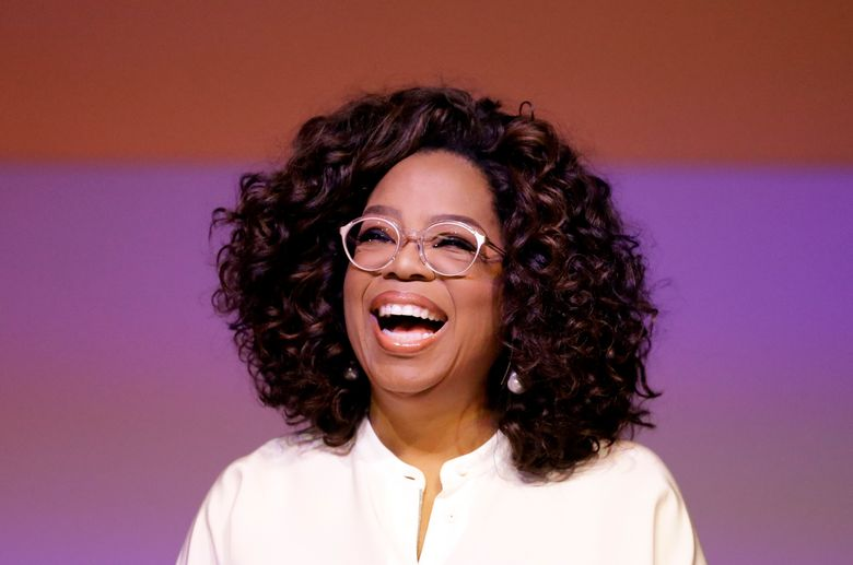 FILE – In this Nov. 29, 2018 file photo, Oprah Winfrey smiles during a tribute to Nelson Mandela and promoting gender equality event at University of Johannesburg in Soweto, South Africa.  Winfrey surprised the Maui Humane Society with a visit to thank the organization for evacuating animals during a wildfire. The Maui News reported Saturday, July 13, 2019, that Winfrey is a part-time Maui resident who only visited briefly Saturday, thanking a volunteer and taking a photo outside with the organization's sign. A Maui Humane Society official says Winfrey is a society supporter.  (AP Photo/Themba Hadebe, File)
