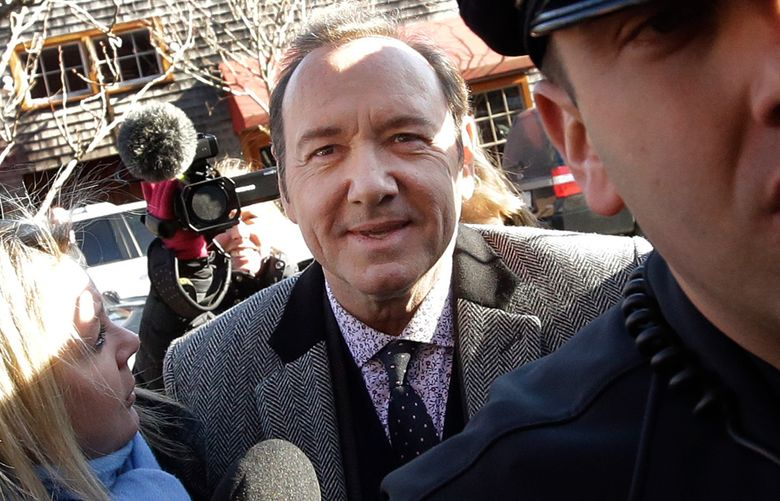 Actor Kevin Spacey arrives at district court in Nantucket, Mass., on Jan. 7, 2019. A young man who says Kevin Spacey groped him in a Nantucket bar in 2016 has dropped his lawsuit against the Oscar-winning actor. Mitchell Garabedian, an attorney for the man, announced in an email Friday, July 5,  that the suit filed June 26 in Nantucket Superior Court has been voluntarily dismissed. (AP Photo/Steven Senne)