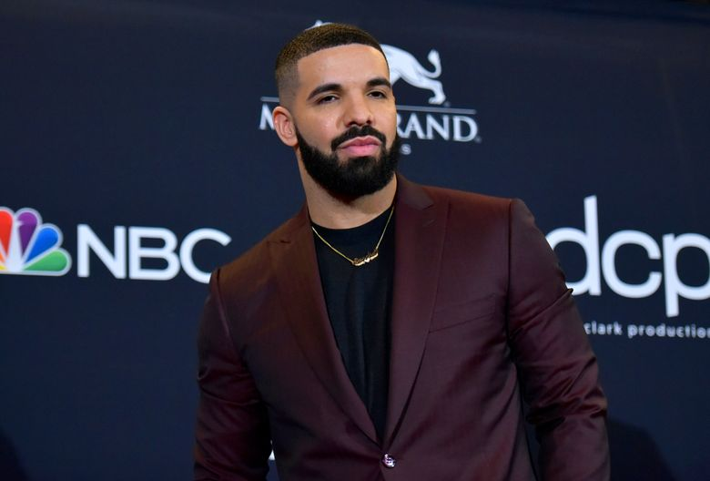 FILE – This May 1, 2019 file photo shows Drake at the Billboard Music Awards in Las Vegas. SiriusXM and Pandora, companies that merged earlier this year, announced Thursday, July 25, that they have signed a new creative partnership with the superstar rapper. (Photo by Richard Shotwell/Invision/AP, File)