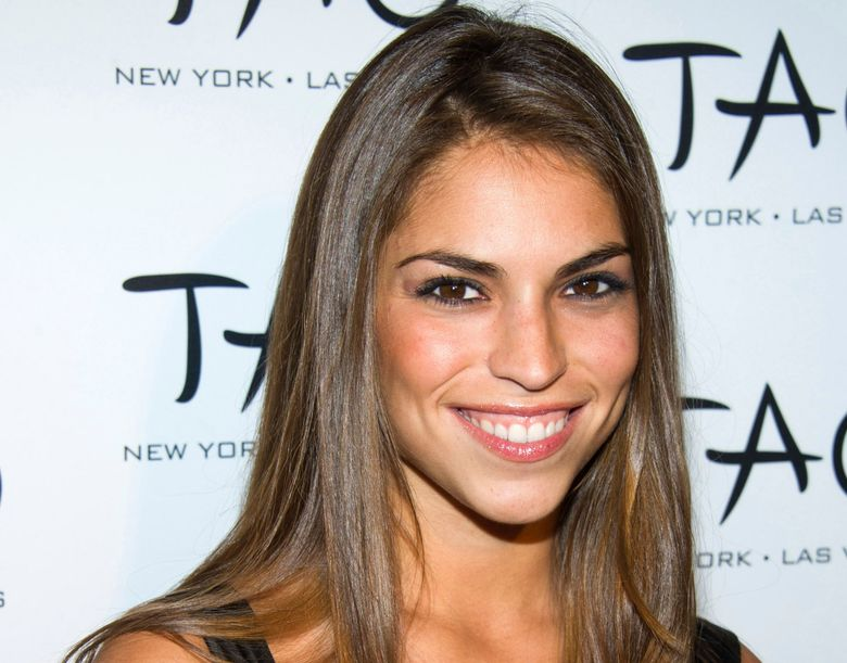 """FILE – In this Oct. 16, 2010, file photo, Antonella Barba arrives to the 10th Anniversary of TAO restaurant in New York.  Barba, who once appeared on reality television shows """"American Idol"""" and """"Fear Factor"""" has pleaded guilty to a drug charge in Virginia and could face 10 years in prison.  Barba pleaded guilty Tuesday, July 30, 2019  to conspiracy to distribute a synthetic opioid. She will be sentenced in November.  (AP Photo/Charles Sykes, File)"""