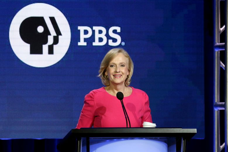FILE – In this Saturday, Feb. 2, 2019, file photo, PBS President and CEO Paula Kerger speaks during the PBS Executive Session at the Television Critics Association Winter Press Tour at The Langham Huntington in Pasadena, Calif. Kerger will head the public TV service for another five years. (Photo by Willy Sanjuan/Invision/AP, File)
