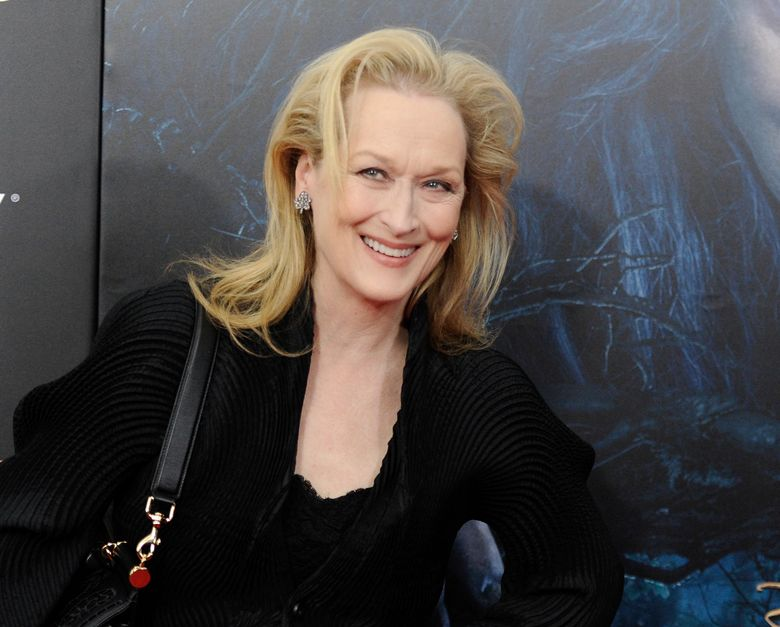 """FILE – This Dec. 8, 2014 file photo shows Meryl Streep at the premiere of """"Into The Woods"""" in New York.  Streep will be the first recipient of an acting award bestowed as part of the Toronto International Film Festival. The festival's organizers announced Friday, July 26, 2019,  that Streep will receive the inaugural TIFF Tribute Actor Award during a Feb. 9 charity gala. (Photo by Evan Agostini/Invision/AP, File)"""