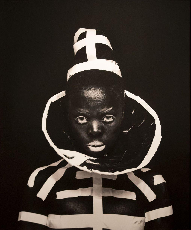 "Zanele Muholi's ""Vile Heard, 2015, Gothenburg, Sweden"" is displayed at the Seattle Art Museum. (Erika Schultz / The Seattle Times)"