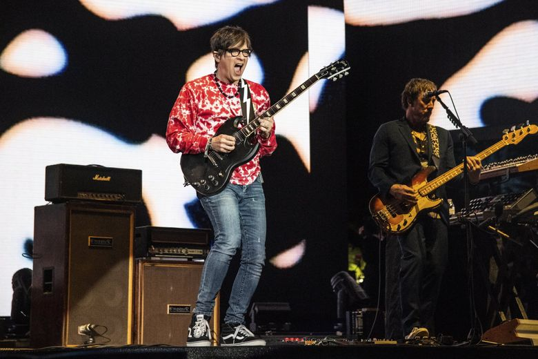 Rivers Cuomo of Weezer performs at the Coachella Music & Arts Festival at the Empire Polo Club on April 13, 2019, in Indio, California. (Amy Harris / Invision / AP)