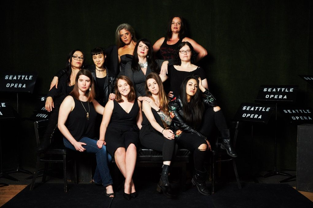 """Seattle Opera's 2018 chamber opera """"O+E"""" was a feminist reimagining of Gluck's classic tale of Orpheus and Eurydice, created by an all-women creative team and principal singers. (Philip Newton)"""