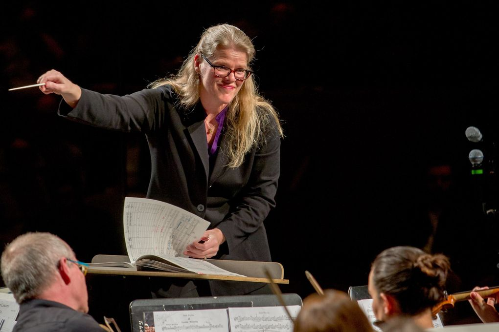 Anna Edwards is music director at the Saratoga Orchestra on Whidbey Island. (Bob Young)