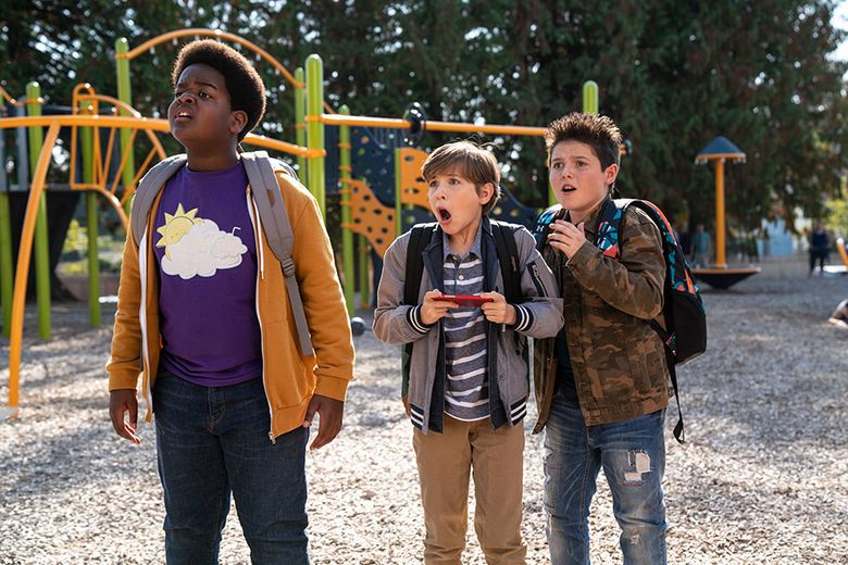 """""""Good Boys"""" includes, from left, Keith L. Williams, Jacob Tremblay and Brady Noon. (Universal Pictures)"""