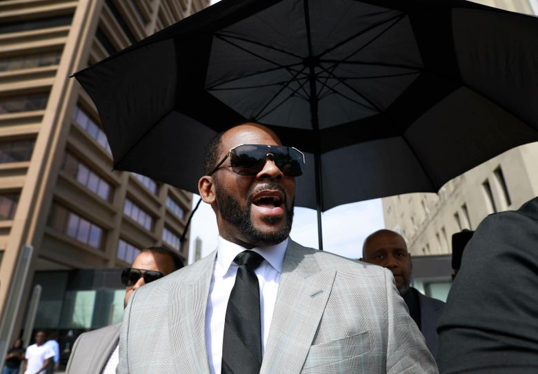 FILE – In this Thursday, June 6, 2019, file photo, musician R. Kelly leaves the Leighton Criminal Court building, in Chicago. Kelly is due in a New York City court, Friday, Aug. 2, 2019, for an arraignment on charges he sexually abused women and girls. (AP Photo/Amr Alfiky, File)