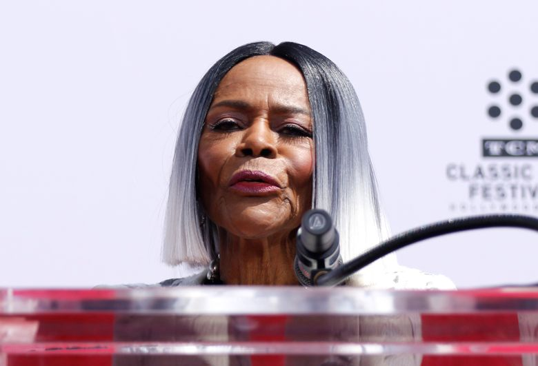 """FILE – In an April 27, 2018 file photo, Cicely Tyson speaks at her Hand and Footprint Ceremony at the TCL Chinese Theatre, in Los Angeles. PWN Netwoek said Tuesday, August 13, 2019 that Cicely Tyson will join the cast as a series regular in Ava DuVernay's new romance anthology series on OWN, """"Cherish the Day."""" (Photo by Willy Sanjuan/Invision/AP, File)"""