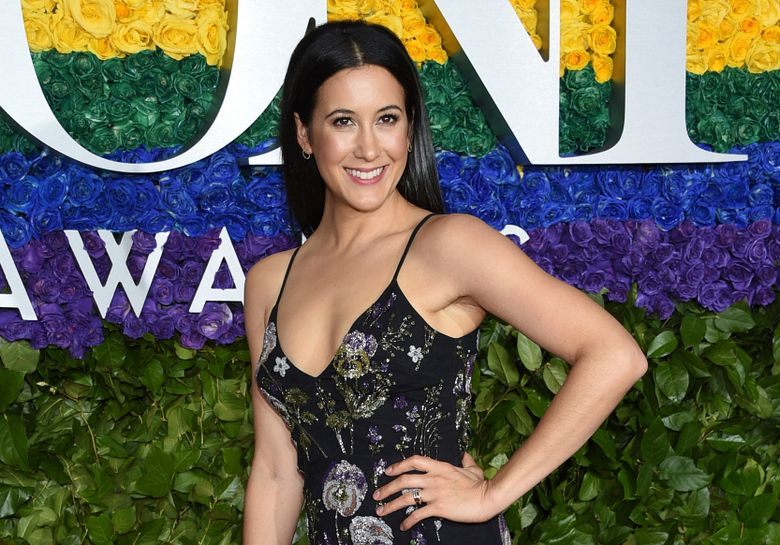 FILE – In this June 9, 2019 file photo, Vanessa Carlton arrives at the 73rd annual Tony Awards at Radio City Music Hall in New York. Over the years, the Broadway show about singer-songwriter Carole King has starred powerful singers in the title role. But until now it hasn't had one thing _ a singer-songwriter. Carlton has bravely stepped into the role of the legendary King without much musical theater experience but lots about being a young woman song writer trying to discover her own voice.(Photo by Evan Agostini/Invision/AP, File)