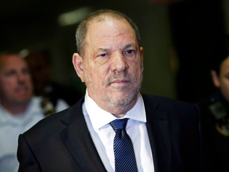 FILE – In this Oct. 11, 2018, file photo, Harvey Weinstein enters State Supreme Court in New York. Weinstein's lawyers want the trial over the sexual assault case against the disgraced movie mogul moved from New York City to Long Island or upstate New York because of a blizzard of pretrial publicity. An appeals court could rule on the request as early as Monday, Aug. 26, 2019. (AP Photo/Mark Lennihan, File)