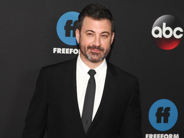 """FILE – In this May 15, 2018 file photo, Jimmy Kimmel attends the Disney/ABC/Freeform 2018 Upfront Party at Tavern on the Green in New York.  Kimmel is among Donald Trump's late-night gadflies, while producer Mark Burnett showcased the future president on """"The Apprentice."""" Yet the two are going into business together. Kimmel and Burnett will produce a new ABC game show, """"Generation Gap,"""" described by the network as a comedy quiz show that brings family members together to compete as a team. (Photo by Andy Kropa/Invision/AP, File)"""