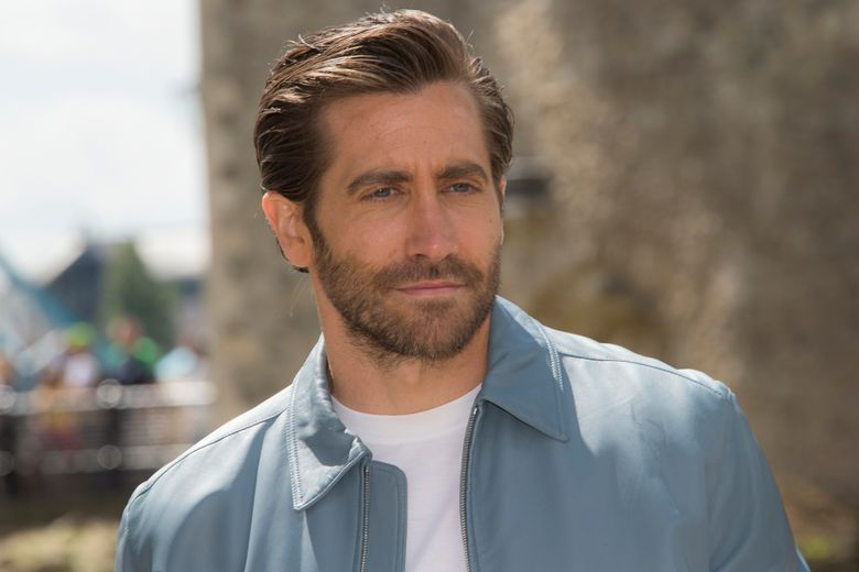 """FILE – In this June 17, 2019 file photo, actor Jake Gyllenhaal poses for photographers upon arrival at the photo call for 'Spiderman: Far From Home' in London.  Gyllenhaal attributes conquering his fear of performing in a one-man play,  by watching the Oscar-winning documentary about the free climber Alex Honnold.  Few performances are as daunting as the one-person play. That's why Jake Gyllenhaal had to find a way to conquer that fear when he took on the role of Abe in the second half of """"Sea Wall/A Life.""""(Photo by Joel C Ryan/Invision/AP, File)"""