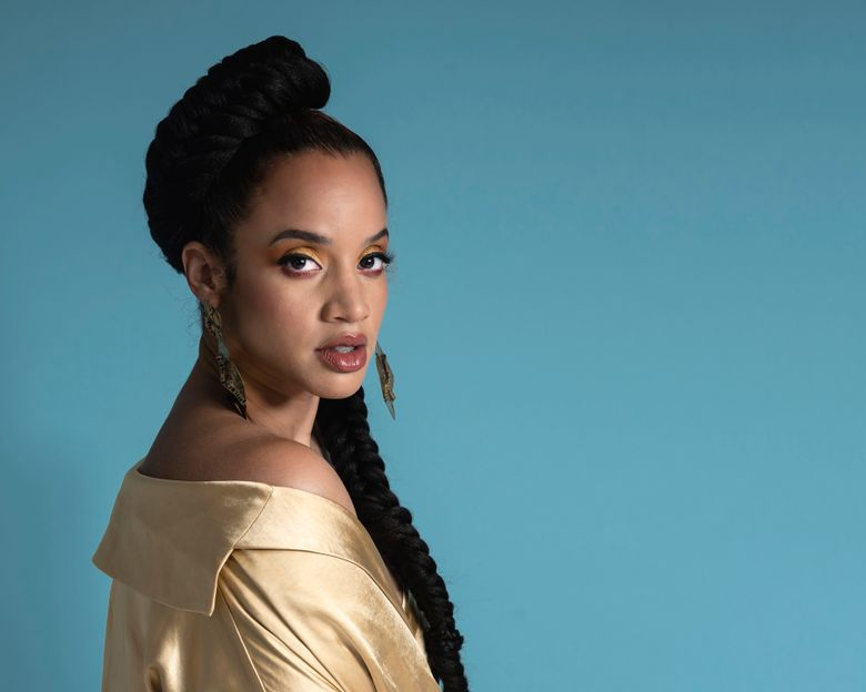 """This July 1, 2019 photo shows actress Dascha Polanco posing for a portrait in New York to promote the 7th season of """"Orange is the New Black."""" In front of the cameras, she told The Associated Press in a recent interview that the industry should stop thinking of her and so many of her co-stars on the recently wrapped Netflix series as non-traditional Hollywood types. Polanco declared: """"We are the tradition. We are the reality.""""  (Photo by Christopher Smith/Invision/AP)"""