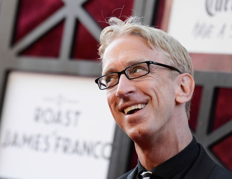 FILE – In this Aug. 25, 2013, file photo, comedian Andy Dick arrives at the Comedy Central Roast of James Franco at The Culver Studios in Culver City, Calif. Dick says he was assaulted outside a New Orleans nightclub after performing in the French Quarter. He tells The Times-Picayune/The New Orleans Advocate he was unconscious for 15 minutes after someone knocked him to the ground with a punch early Saturday, Aug. 10, 2019. (Photo by Dan Steinberg/Invision/AP, File)