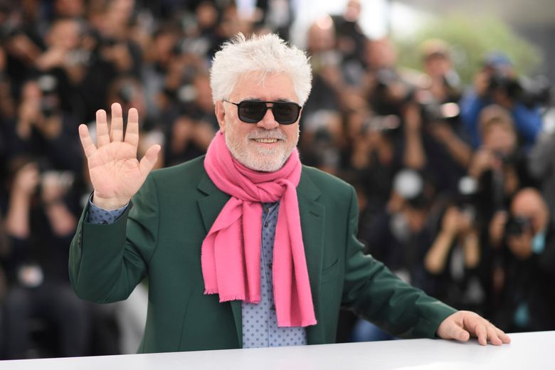 """FILE – In this May 18, 2019. file photo, irector Pedro Almodovar poses for photographers at the photo call for the film """"Pain and Glory"""" at the 72nd international film festival, Cannes, southern France. The New York Film Festival has announced on Tuesday, Aug. 6, 2019, the main slate for its 57th edition, adding films by Almodovar, Noah Baumbach and the late Agnes Varda to its highly selective annual Lincoln Center event.(Photo by Arthur Mola/Invision/AP, File)"""