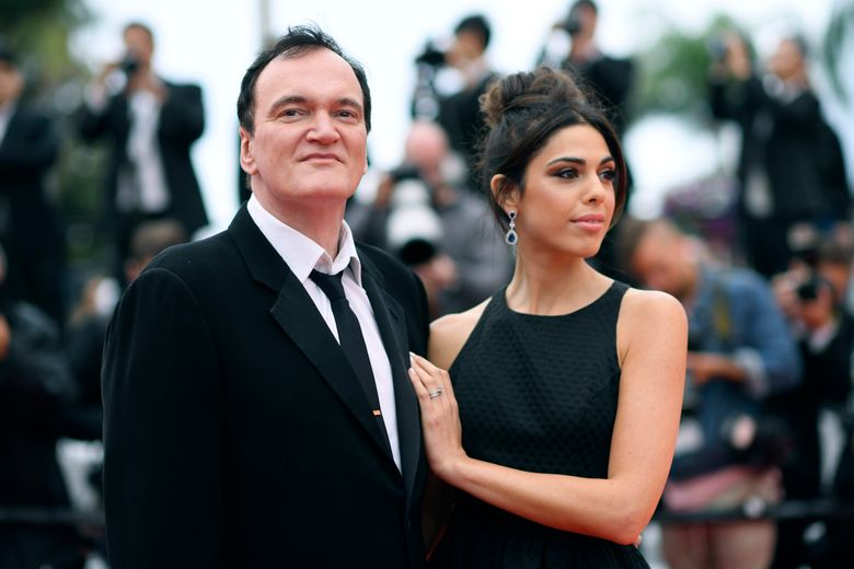 """FILE – In this May 18, 2019 file photo, film director Quentin Tarantino and his wife Daniela Pick pose for photographers upon arrival at the premiere of the film """"The Wild Goose Lake"""" at the 72nd international film festival, Cannes, southern France. Tarantino is about to become a father. His representative Katherine Rowe says the """"Once Upon a Time… In Hollywood"""" director and his wife, Israeli model and singer Pick, are expecting a baby. The couple met in 2009 and married last November. It's the first child for the 56-year-old Tarantino, who also directed """"Pulp Fiction"""" and """"Reservoir Dogs,"""" and the 35-year-old Pick. (Photo by Arthur Mola/Invision/AP, File)"""