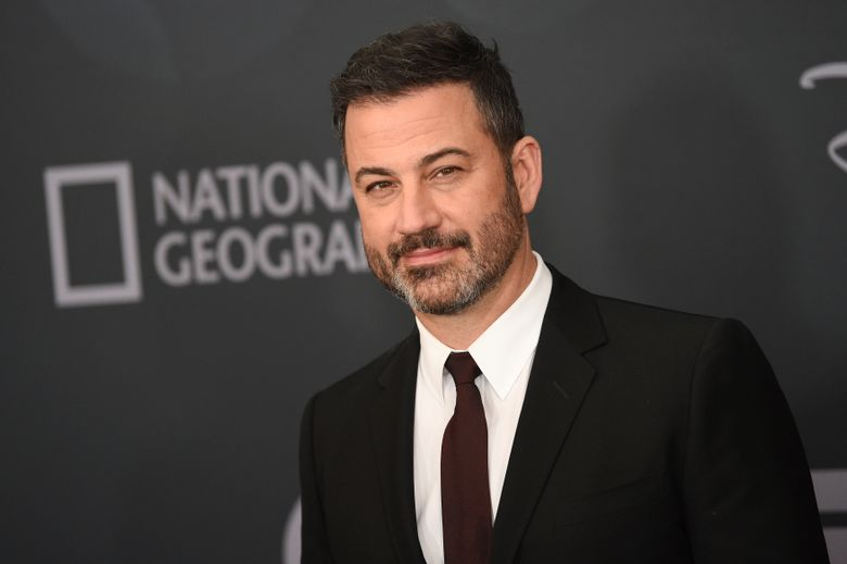 FILE – In this Tuesday, May 14, 2019, file photo, Jimmy Kimmel attends the Walt Disney Television 2019 upfront at Tavern on The Green in New York. Kimmel's network, ABC, has been ordered on  Thursday, Aug. 15, 2019, to pay a $395,000 fine for misuse of the the sound of the emergency alert system that is used to warn people of actual emergencies, such as floods and fire. ABC is one of four media organizations fined for using the sound on their broadcasts. (Photo by Evan Agostini/Invision/AP, File)