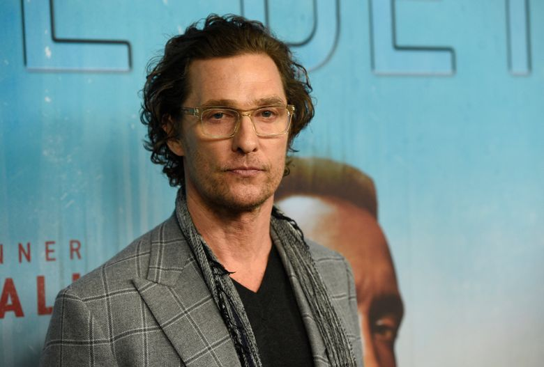 """FILE – In this Jan. 10, 2019, file photo, executive producer Matthew McConaughey arrives at the Los Angeles premiere of """"True Detective"""" season 3 at the Directors Guild of America. The Oscar-winning actor will join the University of Texas as a professor who this fall will teach in the university's Department of Radio-Television-Film. McConaughey has been a visiting instructor at the flagship campus in Austin since 2015 and the university said in a statement Wednesday, Aug. 28, 2019, that the appointment recognizes his """"outstanding work as a teacher and mentor."""" (Photo by Chris Pizzello/Invision/AP, File)"""