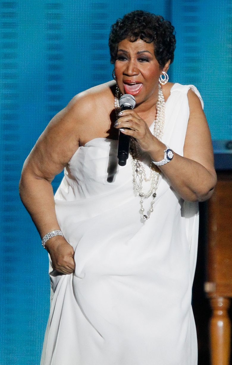 """FILE – In this Tuesday, May 17, 2011 file photo, Aretha Franklin performs during a star-studded double-taping of """"Surprise Oprah! A Farewell Spectacular,"""" in Chicago. A judge is expected to consider a request for a handwriting expert to examine wills discovered in couch cushions after Aretha Franklin's death. A hearing is scheduled Tuesday in Oakland County Probate Court, north of Detroit. (AP Photo/Charles Rex Arbogast, File)"""