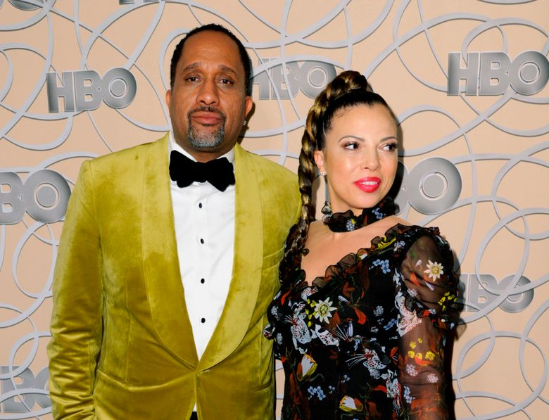 """FILE – In this Jan. 8, 2017, file photo, Kenya Barris, left, and Dr. Rania """"Rainbow"""" Barris arrive at the HBO Golden Globes afterparty in Beverly Hills, Calif. Kenya Barris, creator of the sitcom """"black-ish,"""" has filed for divorce from his wife of 20 years, Rania Barris. Los Angeles Superior Court documents show that Kenya Barris filed to end the marriage on Friday, Aug. 9, 2019, his 45th birthday. (Photo by Richard Shotwell/Invision/AP, File)"""