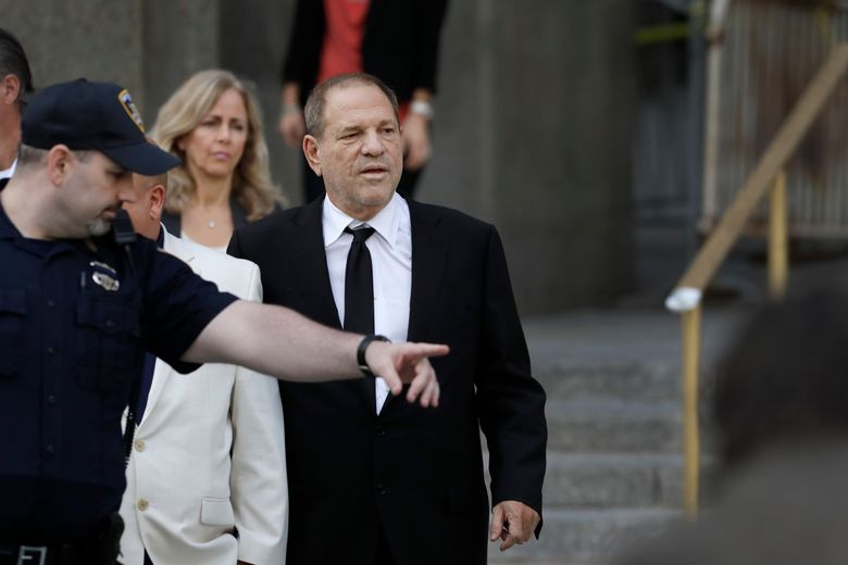 Harvey Weinstein leaves court, Monday, Aug. 26, 2019 in New York. Weinstein's lawyers want the trial moved from New York City to Long Island or upstate New York – part of the last-minute wrangling that includes efforts by prosecutors to bolster their case with testimony from actress Annabella Sciorra, who says Weinstein raped her in the 1990s. Weinstein has denied all accusations of non-consensual sex. (AP Photo/Mark Lennihan)