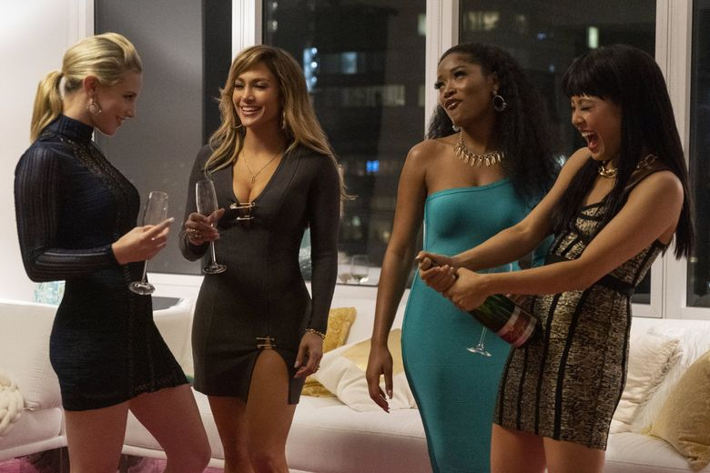 """Hustlers"" includes, from left, Lili Reinhart, Jennifer Lopez, Keke Palmer and Constance Wu. (Barbara Nitke)"