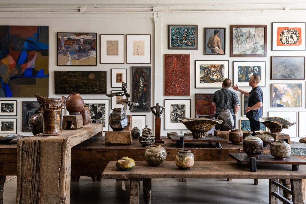 """""""Northwest Influencers"""" at the new Housewright Gallery in Georgetown features paintings and ceramics by modernist masters. (Andrew Giammarco)"""