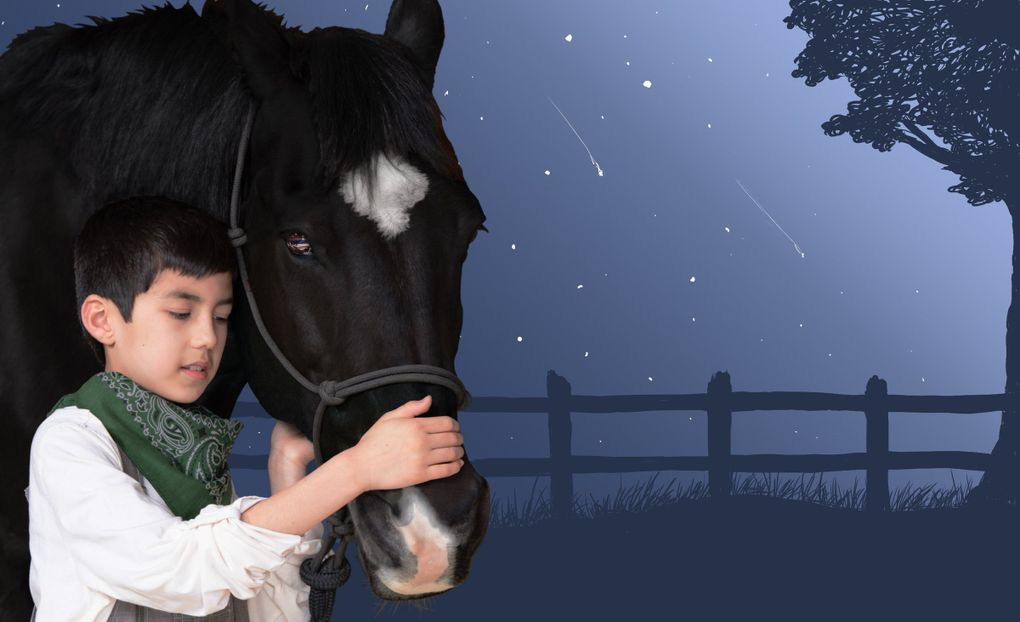 """""""Black Beauty"""" plays at Seattle Children's Theatre from Sept. 26 to Oct. 27. (photo by John Cornicello, art by Marisa Iliakis)"""