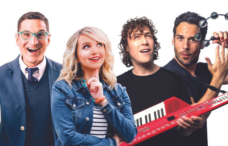 """""""Wow in the World,"""" the podcast on NPR that teaches kids about science and technology, comes in stage show form to Benaroya Hall on Nov. 2. (Robb Hohmann)"""