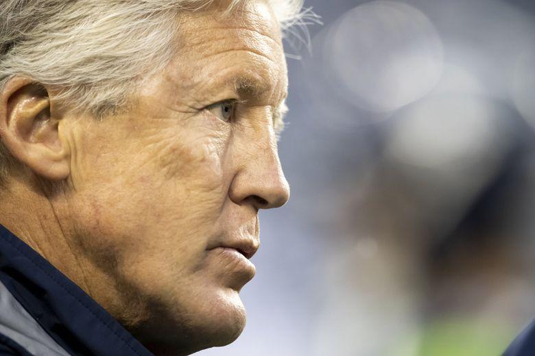 Seahawks head coach Pete Carroll. (Dean Rutz / The Seattle Times)