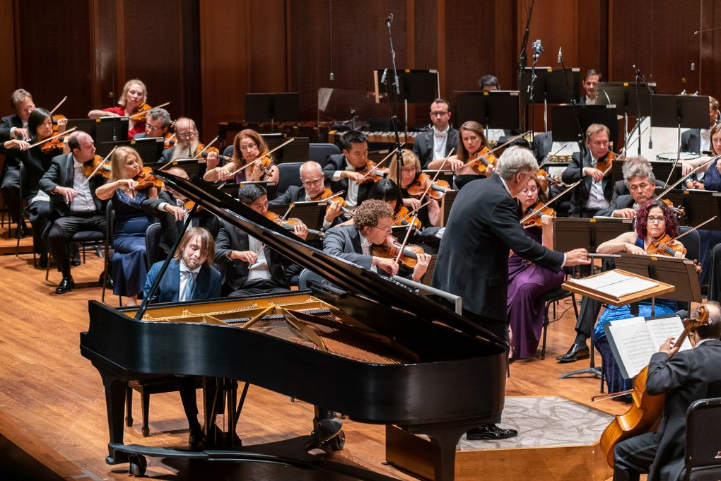 Pianist Daniil Trifonov performs with the Seattle Symphony during the opening-night concert of the 2019-2020 season. (James Holt / Seattle Symphony)