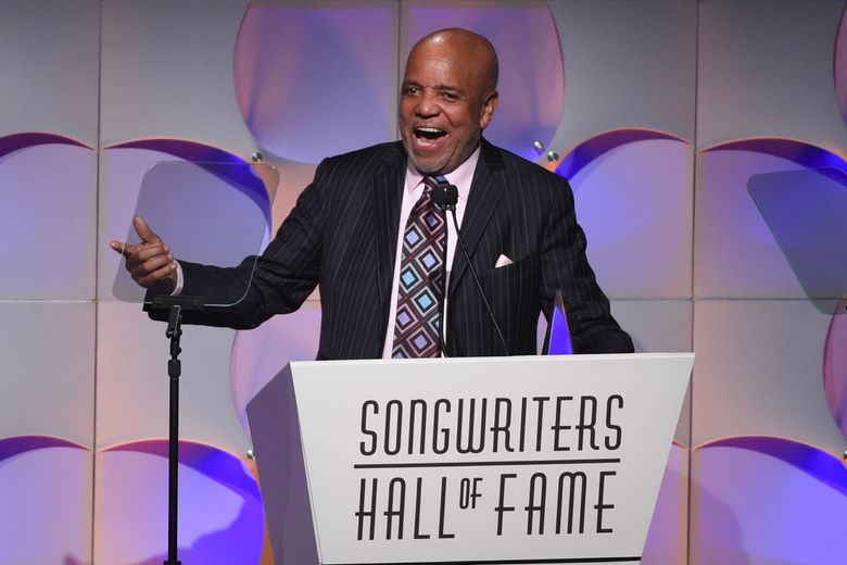 """FILE – In this June 15, 2017, file photo, music mogul Berry Gordy accepts his award at the 48th Annual Songwriters Hall of Fame Induction and Awards Gala at the New York Marriott Marquis Hotel, in New York. The Motown mogul who launched the careers of numerous stars like Stevie Wonder, Diana Ross and Michael Jackson has announced his retirement. The Detroit Free Press reports Gordy said he had """"come full circle"""" at a 60th anniversary event for Motown Records on Sunday, Sept. 22, 2019. (Photo by Evan Agostini/Invision/AP, File)"""