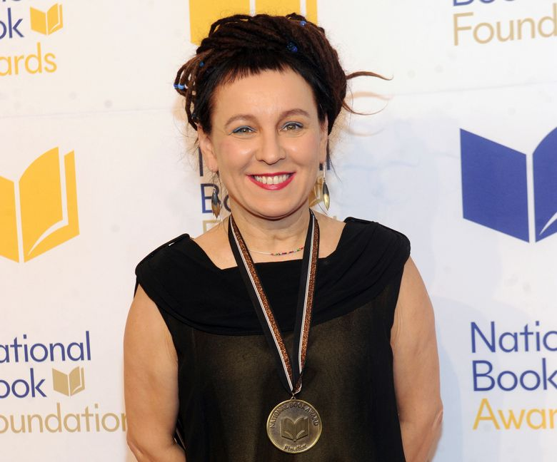 Polish author Olga Tokarczuk attends the 69th National Book Awards Ceremony and Benefit Dinner in New York in 2018. (Photo by Brad Barket/Invision/AP, File)