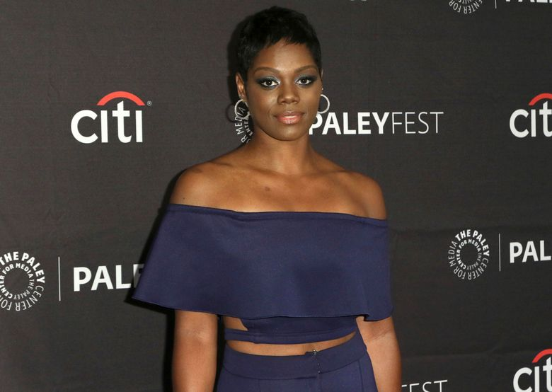 """FILE – This Sept. 8, 2018, file photo shows Afton Williamson attending the PaleyFest Fall TV Previews of """"The Rookie"""" at The Paley Center for Media in Beverly Hills, Calif. The producer of ABC's """"The Rookie"""" says actress Williamson's claims of on-set misconduct against her weren't substantiated by an independent investigator. Production company Entertainment One said Tuesday, Sept. 17, 2019, the investigation led it to conclude no unlawful or inappropriate behavior was committed by the co-workers Williamson accused. (Photo by Willy Sanjuan/Invision/AP, File)"""