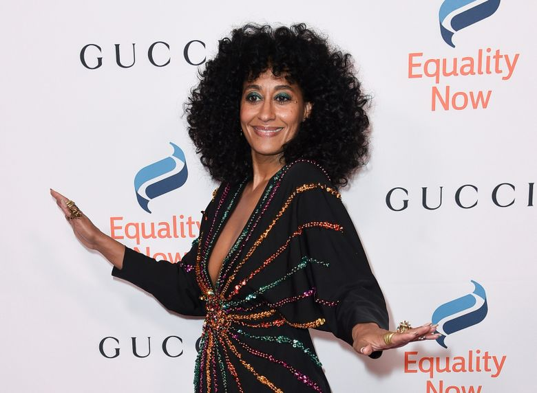 """FILE – This Dec. 3, 2018 file photo shows Tracee Ellis Ross at the 2018 Equality Now's """"Make Equality Reality"""" gala in Beverly Hills, Calif. Fans waiting for a """"Girlfriends"""" reboot are getting a little tease: the cast of the early 2000s sitcom is reuniting on an episode of """"black-ish."""" Ross, who stars in """"blackish,"""" was the star of """"Girlfriends,"""" which ran from 2000 to 2008 and chronicled the lives of four black women living in Los Angeles. The episode will air Oct. 8. (Photo by Richard Shotwell/Invision/AP, File)"""