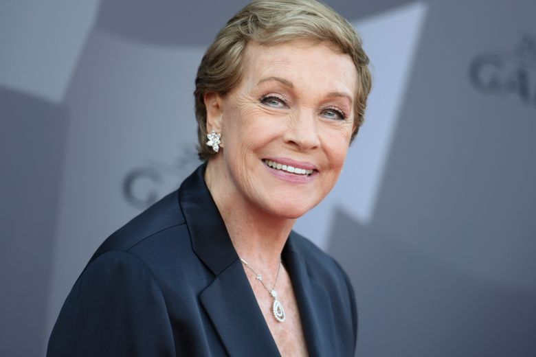 FILE – In this Sept. 29, 2015 file photo, actress Julie Andrews arrives at the Los Angeles Philharmonic 2015/2016 season opening gala at Walt Disney Concert Hall in Los Angeles. The American Film Institute is honoring Andrews with a Life Achievement Award. The organization said Friday, Sept. 20, 2019, that Andrews will receive the award at the Gala Tribute on April 25, 2020, in Los Angeles. (Photo by Richard Shotwell/Invision/AP, File)