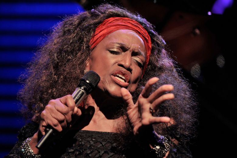 FILE – This July 4, 2010 file photo shows American opera singer Jessye Norman performing on the Stravinski Hall stage at the 44th Montreux Jazz Festival, in Montreux, Switzerland. Norman died, Monday, Sept. 30, 2019, at Mount Sinai St. Luke's Hospital in New York. She was 74. (AP Photo/Keystone/Dominic Favre, File)