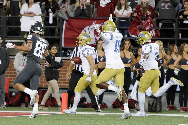 UCLA scored 67 points against the Cougars last week, including this punt return touchdown by Kyle Phillips. (AP Photo/Young Kwak)