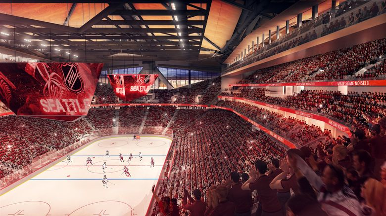 A Stanley Cup victory in front of thousands of red-and-white clad Seattle Sockeyes supporters would certainly rate as the biggest local hockey story of the coming decade. (Courtesy of NHL Seattle)