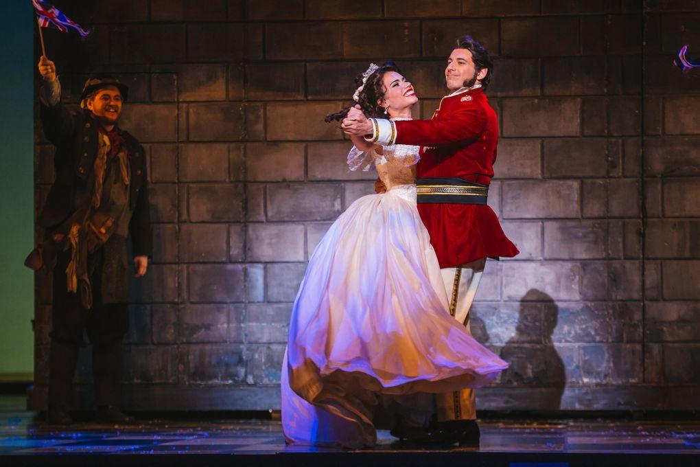 "Ginger Costa-Jackson (Cinderella) with Michele Angelini (Don Ramiro) in Seattle Opera's ""Cinderella."" (Sunny Martini)"