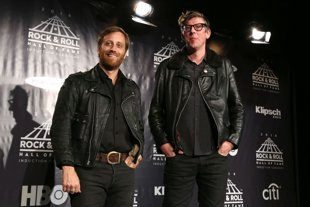 Dan Auerbach, left, and Patrick Carney of The Black Keys come to the Tacoma Dome Nov. 23. (Greg Allen / Invision / AP)
