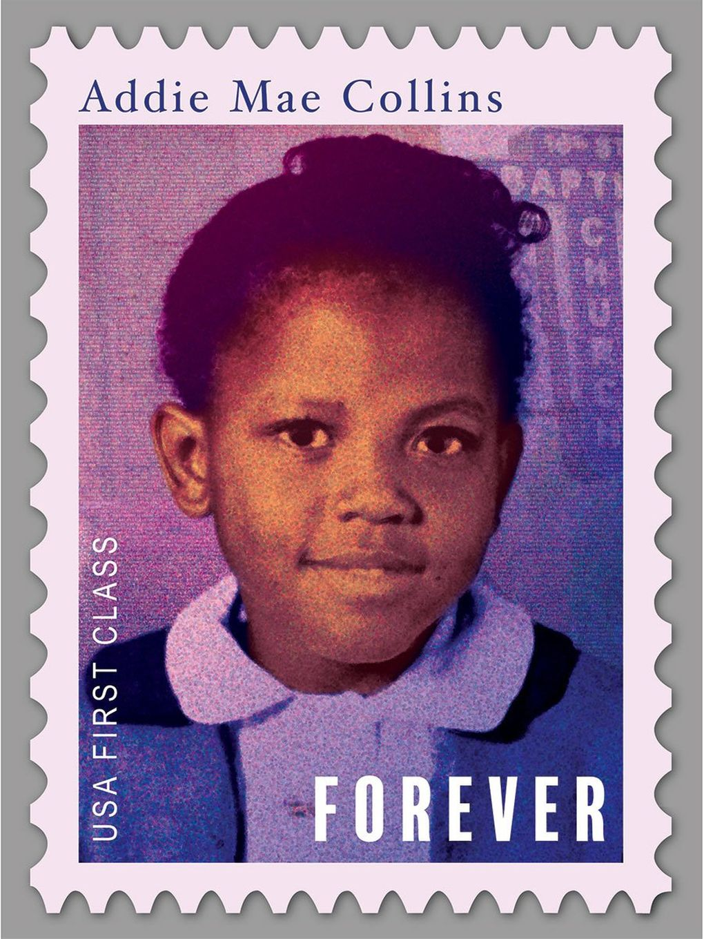 Paul Rucker's aluminum-print stamps of civil-rights martyrs who've never been on official U.S. postage stamps (including four girls who died in the 1963 Alabama church bombing) are showing at Greg Kucera Gallery through Dec. 21. (Courtesy of Greg Kucera Gallery)