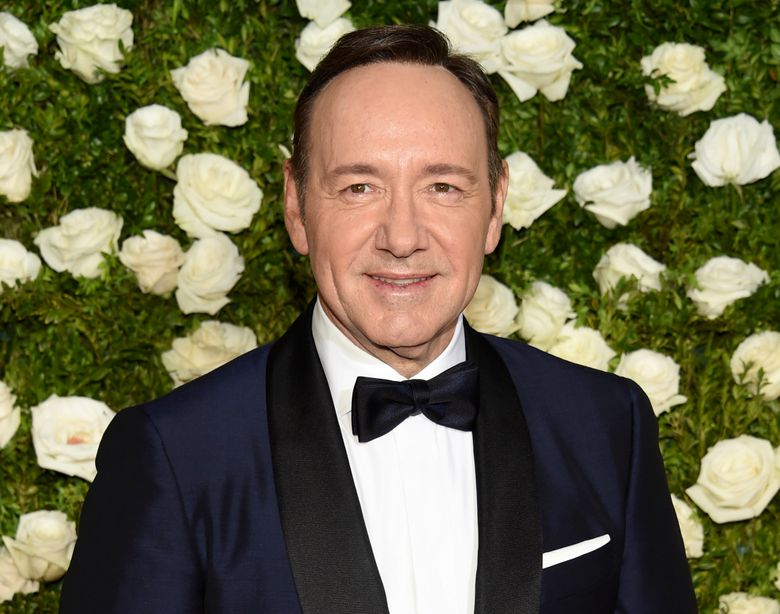 FILE – In this June 11, 2017 file photo, Kevin Spacey arrives at the 71st annual Tony Awards at Radio City Music Hall in New York. Los Angeles prosecutors have rejected a sexual battery case against Spacey because the accuser has died. The Los Angeles County District Attorney's office announced the decision Tuesday, Oct. 29, 2019. The case stemmed from a masseur's allegations that Spacey inappropriately touched him during a massage session at a home in Malibu, California in October 2016. (Photo by Evan Agostini/Invision/AP, File)